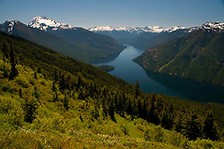 Jack Mountain and Ross Lake from Desolation Peak Trail, North Cascades National Park, Washington, US
