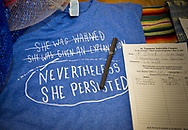 """""""Nevertheless she persisted""""  Tee shirt auctioned off at the """"Ear of Steve"""" fundreaising event in Abita Springs Louisana on June 11."""