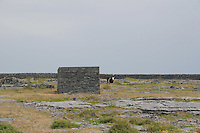 Stone shed on Inis Oirr the Aran Islands Galway Ireland