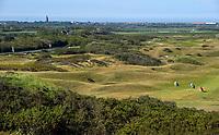 DOMBURG - Overzicht  van de Domburgsche Golf Club in Zeeland (Walcheren) .  Op de voorgrond hole 1. Op de achtergrond Westkapelle.  COPYRIGHT KOEN SUYK