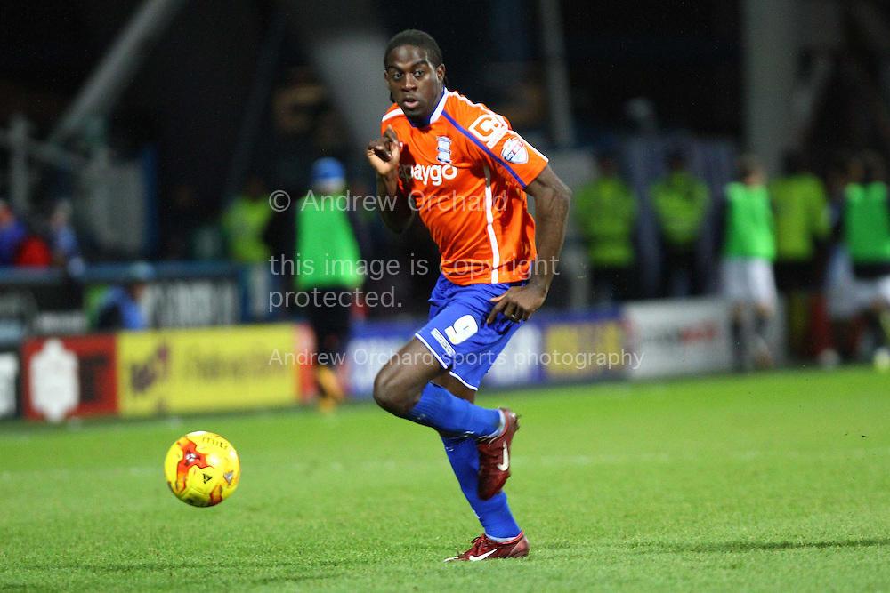 Clayton Donaldson of Birmingham City in action. Skybet football league championship match, Huddersfield Town v Birmingham city at the John Smith's stadium in Huddersfield, Yorkshire on Saturday 20th December 2014.<br /> pic by Chris Stading, Andrew Orchard sports photography.