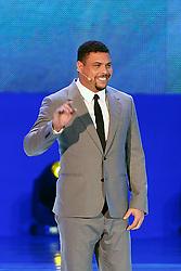 Ronaldo Nazário durante a cerimônia do sorteio dos grupos da Copa do Mundo de 2014, na Costa do Sauípe, Bahia. FOTO: Jefferson Bernardes/ Agência Preview