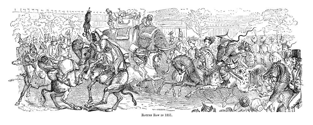 Rotten Row in 1851.