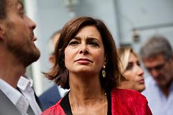 September 9, 2017 - Naples, Italy - Italian Chamber of Deputies' President Laura Boldrini attends The G7  (Parliamentary of The USA, Italy, Japan, France, Germany, Canada, Great Britain) in Naples, ..Italy, on September 9, 2017 for a tour Historic central of Naples. (Credit Image: © Paolo Manzo/NurPhoto via ZUMA Press)