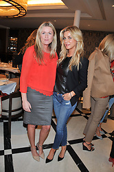 Left to right, JANE HICKEY and STEPHANIE DORRANCE at a lunch to launch Cash & Rocket on Tour 2013 hosted by Julia Brangstrup in aid of Orpan Aid and Shine on Sierrra Leone held at Banca, 40 North Audley Street, London on 29th April 2013.