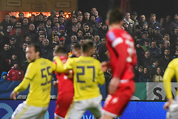 Spectators during football match between NK Aluminij and NK Maribor in 18th Round of Prva liga Telekom Slovenije 2019/20, on November 24, 2019 in Sportni park Aluminij, Kidricevo Slovenia. Photo by Milos Vujinovic / Sportida