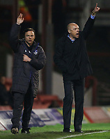 Football - League One - Brentford vs. Oldham<br /> Brentford manager, Uwe Rosler (right) and Oldham manager Paul Dickov both appeal for a throw-in