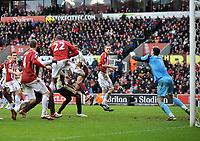 Stoke City/Sunderland Premiership 05.02.11<br />Photo: Tim Parker Fotosports International<br />John Carew or Robert Huth Stoke scores 2nd goal