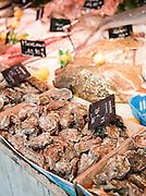 Seafood for sale at a market in Saint-Martin-de-Ré, Ile de Ré, France