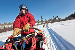 Dogmusher Rod Taylor of Uncommon Journeys in the Ibex Valley near Whitehorse, Yukon