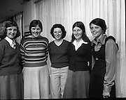 Seafood Cook in Rosslare 07/05/1976.05/07/1976.7th May 1976.Pictured from left to right, Laura O'Hagan, Loreto Convent, Bray, Co. Wicklow, Helen O' Rourke, Mercy Convent, Waterford. Helen Holden, Holy Faith Convent, Rosbercon, New Rose, Co. Wexford, Breda Ryan, Vocational School, Borris, Co. Carlow, Sharon Hoban, Vocational School, Kilkenny..
