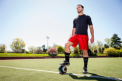 Soccer player preparing for free kick (Credit Image: © Image Source/ZUMAPRESS.com)