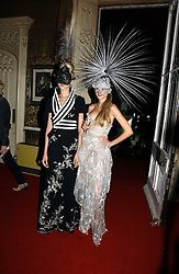 Left to right, models ANNA ILNYTSKA and TETYANA PISKUN at the 2006 Moet & Chandon Fashion Tribute in honour of photographer Nick Knight, held at Strawberry Hill House, Twickenham, Middlesex on 24th October 2006.<br /><br />NON EXCLUSIVE - WORLD RIGHTS
