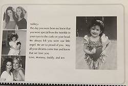 May 15, 2003; Valencia, CA, USA; 'High School Musical' star ASHLEY TISDALE attended Valencia high school in California. PICTURED: Tisdale's tribute page from her senior yearbook in 2003 (Credit Image: © Courtesy Valencia High School/ZUMAPRESS.com)
