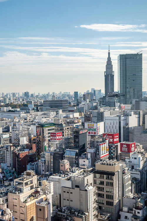 Looking out over Kabukicho towards central Tokyo.