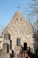 St Caxile Chapel, near the UNESCO-listed Baroque belfy in Mons, Belgium. Weekend of inauguration of Mons as European Capital of Culture 2015 (24 January 2015). © Rudolf Abraham