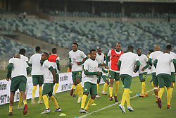 20112018 (Durban)<br /> Bafana Bafana play Paraguay in the return of the Nelson Mandela Challenge. With the annual fixture to commemerate the legacy of former South African president Nelson Mandela returning following a brief hiatus, Bafana will meet their 2002 FIFA World Cup Group B opponents for only the third time in their history. The clash is set for the Moses Mabhida Stadium on Tuesday evening (kick-off at 19h30), just three days after the all-important 2019 Africa Cup of Nations qualifier against Nigeria.<br /> Picture: Motshwari Mofokeng/African News Agency (ANA)
