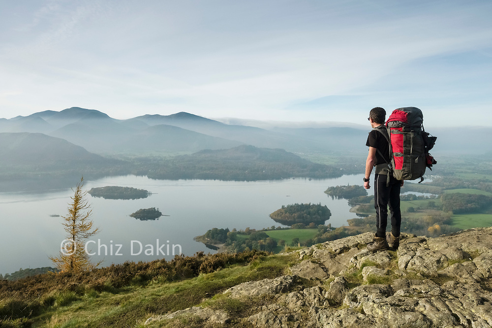 Fantastic views across Derwent Water from a slight detour on Walla Crag