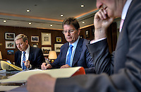 Victorian Premier Ted Baillieu after one year in office. Cabinet meeting in the premiers office. Pic By Craig Sillitoe CSZ/The Sunday Age.21/11/2011 This photograph can be used for non commercial uses with attribution. Credit: Craig Sillitoe Photography / http://www.csillitoe.com<br /> <br /> It is protected under the Creative Commons Attribution-NonCommercial-ShareAlike 4.0 International License. To view a copy of this license, visit http://creativecommons.org/licenses/by-nc-sa/4.0/.