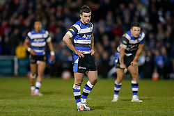 Bath Fly-Half George Ford and Inside Centre Sam Burgess, making his first start for the Club, look on - Photo mandatory by-line: Rogan Thomson/JMP - 07966 386802 - 12/12/2014 - SPORT - RUGBY UNION - Bath, England - The Recreation Ground - Bath Rugby v Montpellier Herault Rugby - European Rugby Champions Cup Pool 4.