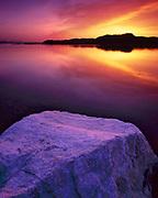 Rock and Lake at Dawn, Ruby Lake National Wildlife Refuge, Nevada