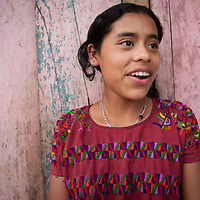 An indigenous girl in Rio Azul village in Nebaj. CWS supports local organisation CIEDEG to run a food production and nutrition programme in several areas of Guatemala. With their support, in the indigenous highlands of Nebaj, villagers have increased their food production by using greenhouses and irrigation. FRB supports CWS to run a food security programme in the region.