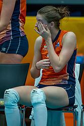 Hyke Lyklema of Netherlands after semi final Netherlands - Serbia, FIVB U20 Women's World Championship on July 17, 2021 in Rotterdam