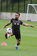 Leon Britton of Swansea city in action.Swansea city FC team training in Llandore, Swansea,South Wales on Thursday 15th August 2013. The team are preparing for the opening weekend of the Barclays premier league when they face Man Utd. pic by David Richards,  Andrew Orchard sports photography,