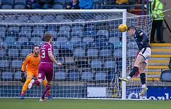 Raith Rovers Kevin Nisbet misses a header. Raith Rovers 0 v 1 Arbroath. Scottish Football League Division One game played 16/2/2109 at Stark's Park.