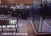 US Courtroom, Prisoner's Cage, Lawyers' Table, Independence National Historic Park, Philadelphia, PA