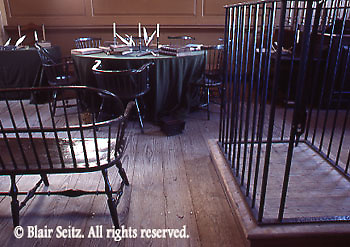 US Courtroom, Prisoner's Cage, Lawyers' Table, Independence National Historic Park, Philadelphia, PA