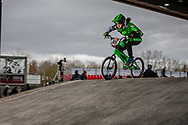 #408 (CHEVALLIER Laetitia) FRA at the 2018 UCI BMX Superscross World Cup in Saint-Quentin-En-Yvelines, France.
