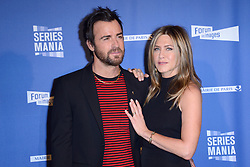 """File photo - Jennifer Aniston and Justin Theroux attending the Series Mania Festival Opening at the Grand Rex in Paris, France on April 13, 2017. Hollywood couple Jennifer Aniston and Justin Theroux are separating after two years of marriage. The pair, who reportedly met on the set of comedy film Wanderlust, said the mutual decision was """"lovingly made"""" at the end of last year. Photo by Aurore Marechal/ABACAPRESS.COM"""