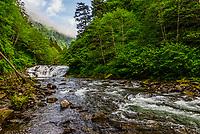 Lower Falls, Sawmill Creek, Sitka, Alaska USA.