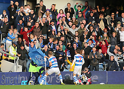 QPR's Matt Smith celebrates scoring his side's second goal of the game during the Sky Bet Championship match at Loftus Road, London.