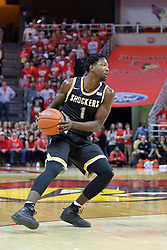 14 January 2017:  Zach Brown during an NCAA  MVC (Missouri Valley conference) mens basketball game between the Wichita State Shockers the Illinois State Redbirds in  Redbird Arena, Normal IL