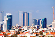 Israel, Tel Aviv, new and old cityscape April 2007