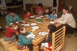 Lunchtime at school for children with learning disabilities,