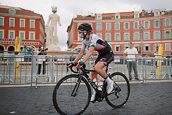 Nancy van der Burg (NED) makes her way to the start line at the 2020 La Course By Le Tour with FDJ, a 96 km road race in Nice, France on August 29, 2020. Photo by Sean Robinson/velofocus.com