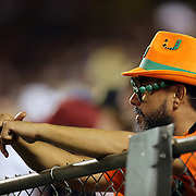 A dejected Miami Hurricane fan sits alone during the NCAA Football Russell Athletic Bowl football game between the Louisville Cardinals and the Miami Hurricanes, at the Florida Citrus Bowl on Saturday, December 28, 2013 in Orlando, Florida. Louisville won the game by a score of 36-9. (AP Photo/Alex Menendez)
