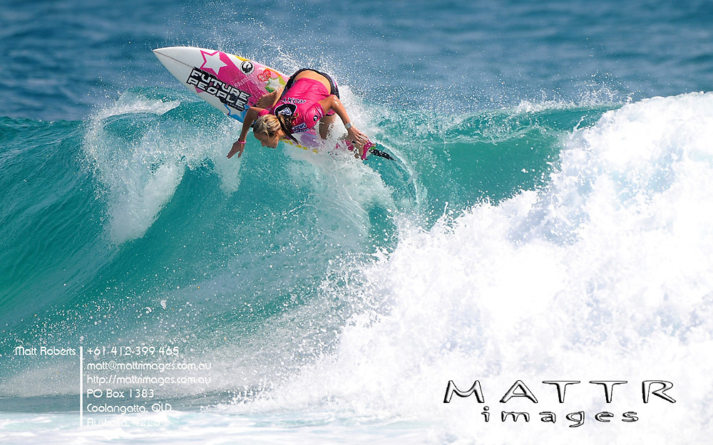 Gold Coast, Australia - March 6: Chelsea Hedges in form but not enough to advance through to the final of the Roxy Pro Gold Coast 2010 at Snapper Rocks on the Gold Coast, March 6, 2010 Photo by Matt Roberts/MATTRimages.com.au | Image ID: MTR_0633.jpg
