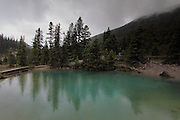 The Ink Pots, in Banff National Park, in the rain