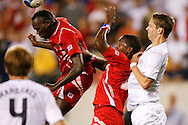 July 18 2009: A member of team Panama heads the ball during the game between USA and Panama. The United States defeated Panama 2-1 in added extra time in a CONCACAF Gold Cup quarter-final match at Lincoln Financial Field in Philadelphia, Pennsylvania.