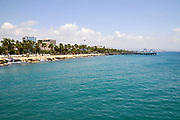 coastline as seen from Limassol Marina and port, Cyprus