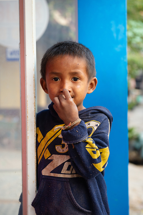 Portrait of young Lao boy in Pak Beng