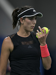 August 29, 2018 - Flushing Meadows, New York, U.S - Garbine Muguruza during her match against Karolina Muchova on Day 3 of the 2018 US Open at USTA Billie Jean King National Tennis Center on Wednesday August 29, 2018 in the Flushing neighborhood of the Queens borough of New York City. Muchova  defeats Muguruza 3-6, 6-4, 6-4. (Credit Image: © Prensa Internacional via ZUMA Wire)