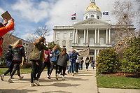 "St Paul's School ""March For Our Lives"" to the Concord Statehouse.  ©2018 Karen Bobotas Photographer"