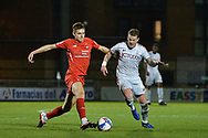 Leyton Orient's Hector Kyprianou(26) and Bradford City's   Billy Clarke(16) battles for possession during the EFL Sky Bet League 2 match between Leyton Orient and Bradford City at the Breyer Group Stadium, London, England on 24 November 2020.