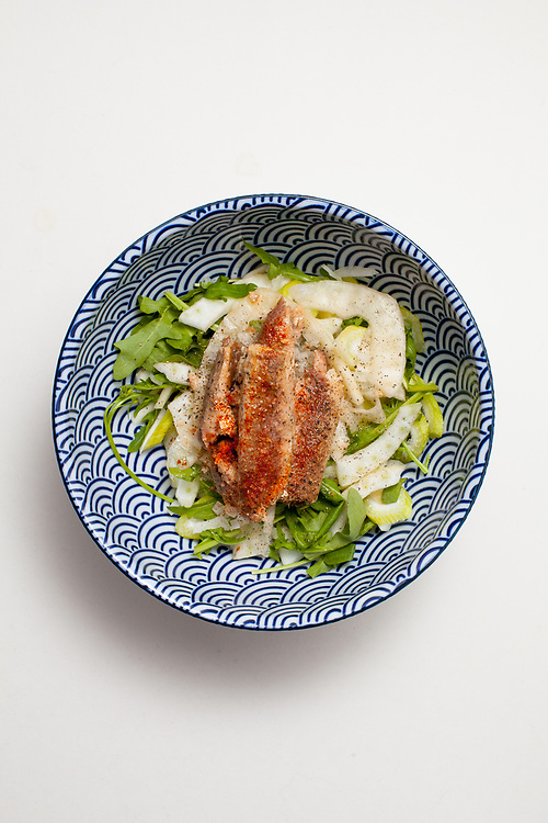 Sardine, Fennel, and Arugula Salad from the fridge (m€) - COVID-19 Social Distancing