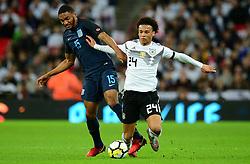 Leroy Sane of Germany Battles for the ball with Joe Gomez of England - Mandatory by-line: Alex James/JMP - 10/11/2017 - FOOTBALL - Wembley Stadium - London, United Kingdom - England v Germany - International Friendly